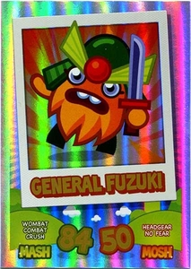 Topps Moshi Monsters Mash Up! Trading Card Game Rainbow Foil Single Card General Fuzuki
