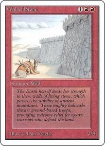 Magic the Gathering Unlimited Edition Single Card Uncommon Wall of Stone