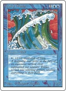 Magic the Gathering Unlimited Edition Single Card Uncommon Wall of Water