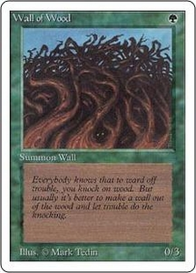 Magic the Gathering Unlimited Edition Single Card Common Wall of Wood