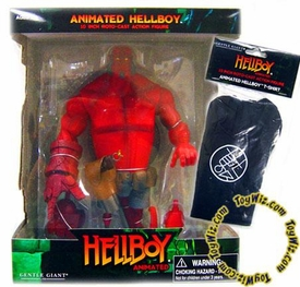 Hellboy Gentle Giant 10 Inch Deluxe Action Figure Hellboy [Animated Style] with B.P.R.D T-Shirt