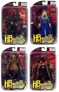 Mezco Hellboy 2 The Golden Army Series 2 Set of 4 Action Figures [Wounded Hellboy, Goblin, Princess Nuala & Hellboy (No Coat)]