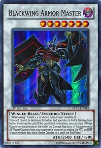 YuGiOh 5D's Duelist Pack Crow Single Card Super Rare DP11-EN013 Blackwing Armor Master