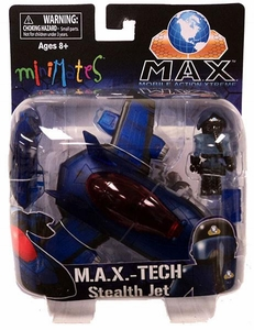 Minimates Vehicles M.A.X.-TECH Stealth Jet [Clear Blue]
