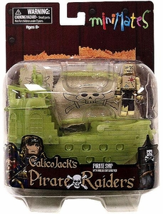 Minimates Vehicle Calico Jack's Pirate Raiders Pirate Ship with Undead Cartographer