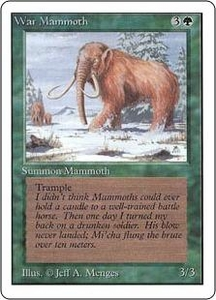 Magic the Gathering Unlimited Edition Single Card Common War Mammoth