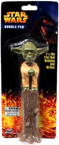 Star Wars Revenge of the Sith Bobble Head Pen Yoda Damaged Package, Mint Contents!