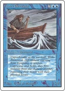 Magic the Gathering Unlimited Edition Single Card Uncommon Water Elemental