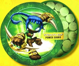 Skylanders GIANTS Candy Tin Stealth Elf [Sour Green Apple Flavor]