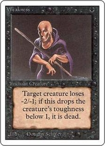Magic the Gathering Unlimited Edition Single Card Common Weakness