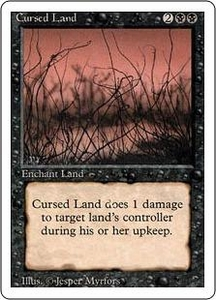 Magic the Gathering Revised Edition Single Card Uncommon Cursed Land