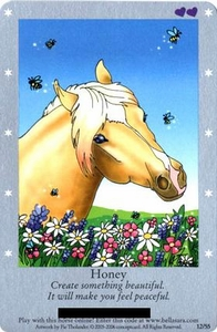 Bella Sara Horses Trading Card Game Series 1 Single Card 12/55 Honey