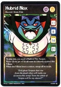 Neopets Trading Card Game Travels in Neopia Holofoil Single Card Hubrid Nox #14
