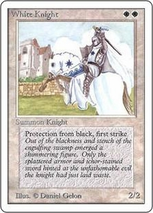 Magic the Gathering Unlimited Edition Single Card Uncommon White Knight