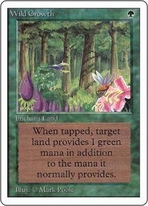 Magic the Gathering Unlimited Edition Single Card Common Wild Growth
