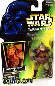 Star Wars Power of the Force Hologram Card Action Figure Gamorrean Guard [Vibro-Ax]