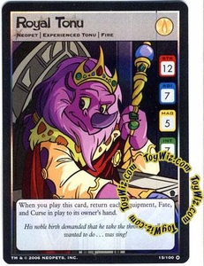 Neopets Trading Card Game Haunted Woods Holofoil Single Card #15 Royal Tonu