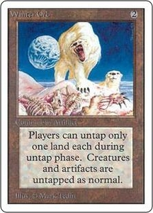 Magic the Gathering Unlimited Edition Single Card Rare Winter Orb