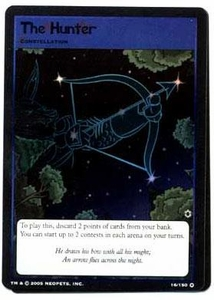 Neopets Trading Card Game Travels in Neopia Holofoil Single Card The Hunter #16