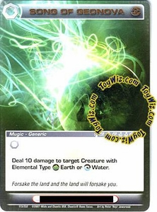 Chaotic Trading Card Game Dawn of Perim Generic Mugic Single Card Rare #173 Song of Geonova