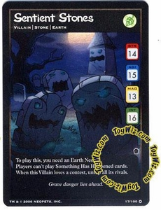 Neopets Trading Card Game Haunted Woods Holofoil Single Card #17 Sentient Stones