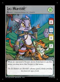 Neopets Darkest Faerie Holofoil Single Card #17 Ixi Hunter