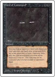 Magic the Gathering Unlimited Edition Single Card Rare Word of Command