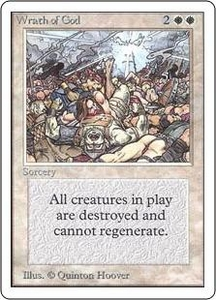Magic the Gathering Unlimited Edition Single Card Rare Wrath of God