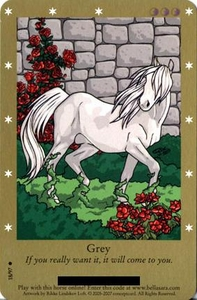 Bella Sara Horses Trading Card Game Series 2 Single Card Common 18/97 Grey