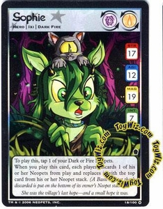 Neopets Trading Card Game Haunted Woods Holofoil Single Card #18 Sophie