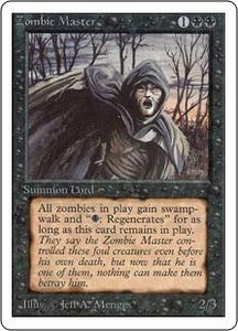Magic the Gathering Unlimited Edition Single Card Rare Zombie Master