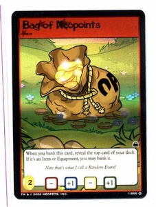 Neopets Trading Card Game Travels in Neopia Holofoil Single Card Bag of Neopoints #1