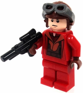 LEGO Star Wars LOOSE Mini Figure Naboo Pilot in Red Jumpsuit with Blaster