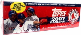 Topps MLB 2007 Baseball Cards Complete Hobby Factory Sealed Set (BOSTON RED SOX TEAM EDITION)