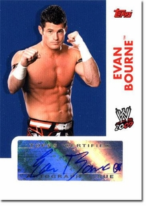 Topps 2009 WWE Trading Cards Authentic Autograph Single Card Evan Bourne