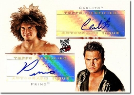 Topps 2009 WWE Trading Cards Authentic Autograph Single Card Primo & Carlito