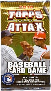 Topps 2010 Attax Card Game MLB Major League Baseball Booster Pack
