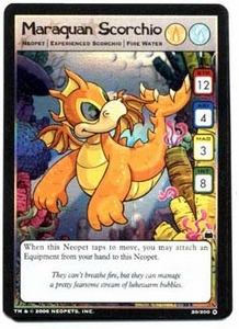 Neopets Trading Card Game Travels in Neopia Holofoil Single Card Maraquan Scorchio #20