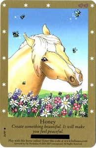 Bella Sara Horses Trading Card Game Series 2 Single Card Common 21/97 Honey