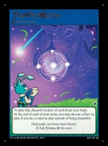 Neopets Darkest Faerie Holofoil Single Card #22 The Protector