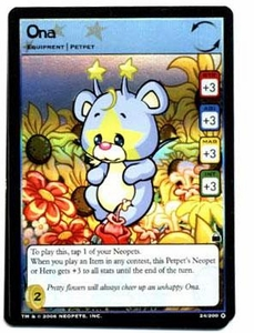 Neopets Trading Card Game Travels in Neopia Holofoil Single Card Ona #24