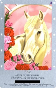 Bella Sara Horses Trading Card Game Series 1 Single Card 24/55 Rose