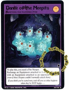 Neopets Trading Card Game Haunted Woods Rare Single Card #25 Dance of the Meepits