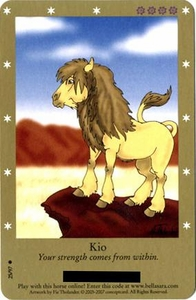 Bella Sara Horses Trading Card Game Series 2 Single Card Common 25/97 Kio