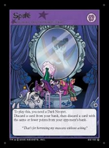 Neopets Darkest Faerie Holofoil Single Card #25 Spite