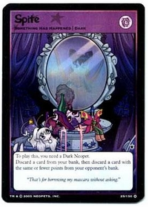 Neopets Trading Card Game Travels in Neopia Holofoil Single Card Spite #25
