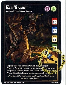 Neopets Trading Card Game Haunted Woods Rare Single Card #26 Evil Trees