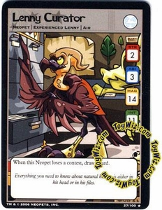 Neopets Trading Card Game Haunted Woods Rare Single Card #27 Lenny Curator