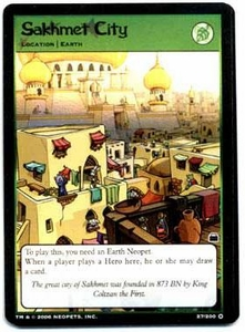 Neopets Trading Card Game Travels in Neopia Holofoil Single Card Sakhmet City #27