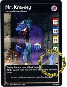 Neopets Trading Card Game Haunted Woods Rare Single Card #28 Mr. Krawley